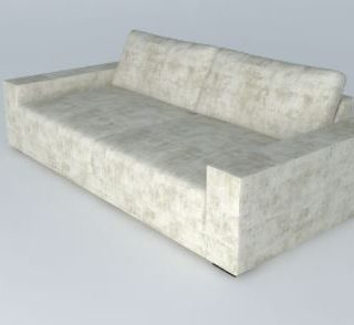 SF01-036 -3 seater white brown texture